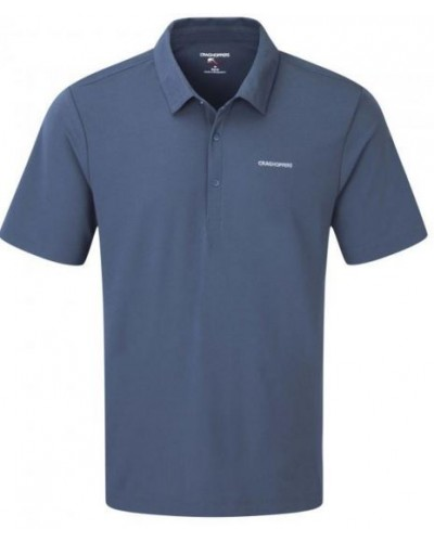 NOSILIFE NEMLA SHORT-SLEEVED POLO SHIRT FADED INDIGO